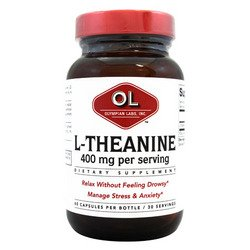 L-Theanine,400Mg - 60 Cap, 3 Pack by Olympian Labs