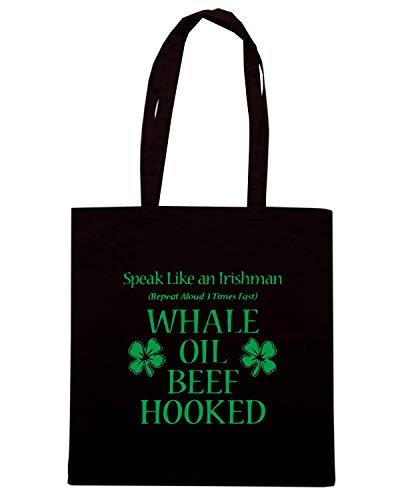 Borsa Shopper Nera TIR0198 SPEAK LIKE AN IRISHMAN