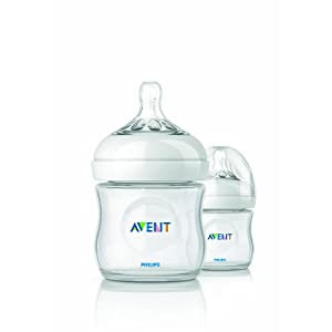Philips AVENT BPA Free Natural Polypropylene Bottle 4 Ounce 2 Pack by Philips AVENT