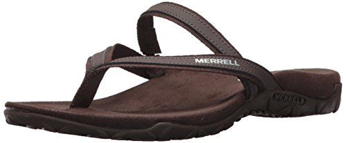 Merrell Women's Terran Ari Post Sport Sandal, Bracken, 8 B(M) - Sandals Rubber Merrell Sole
