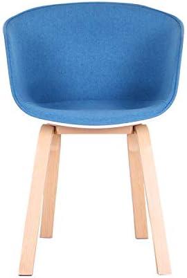 1234 Lot de 2 Fauteuils avec Coussin en Tissu Doux et Construction Métallique Stable Chaises d'accoudoirs de Conception Moderne pour Salle à Manger Salon Chambre à Coucher (Bleu)