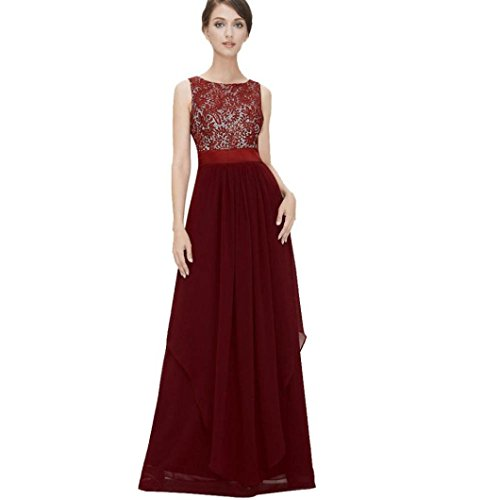 9c1694b6615fc ... Limsea Long Chiffon Lace Evening Formal Party Ball Gown Prom Bridesmaid  Dress. ; 