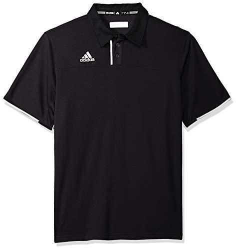 adidas Men's Adult Utility Polo Shirt Golf Sport Top Climacool 1849A (Black 2XL)