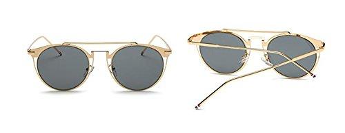 cercle de lunettes en retro du Lennon inspirées style Grise soleil Pièce vintage rond polarisées métallique gprvgq
