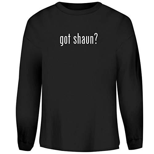 One Legging it Around got Shaun? - Men's Funny Soft Adult Crewneck Sweatshirt, Black, X-Large -
