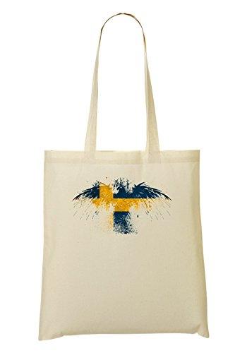 Swedish Eagle Flag Bolso De Mano Bolsa De La Compra