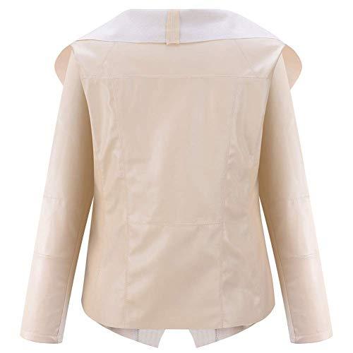 Taille de Irrégulier Vêtements Zhrui Femme Dessus Col Beige Petite Couleur Pour Uvaq65w