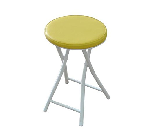 Tabouret pliant/tabouret portable/chaise de salle à manger minimaliste moderne/tabouret de bar/assis hauteur 50cm/60cm (Couleur : Rose, taille : 27*26*61cm)