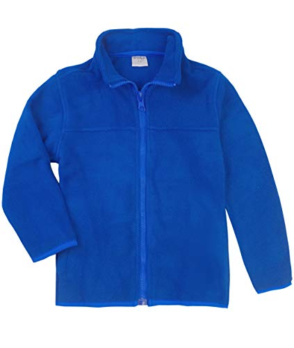 (Spring&Gege Youth Solid Full-Zip Polar Fleece Jacket for Boys and Girls Size 11-12 Years Royal Blue)