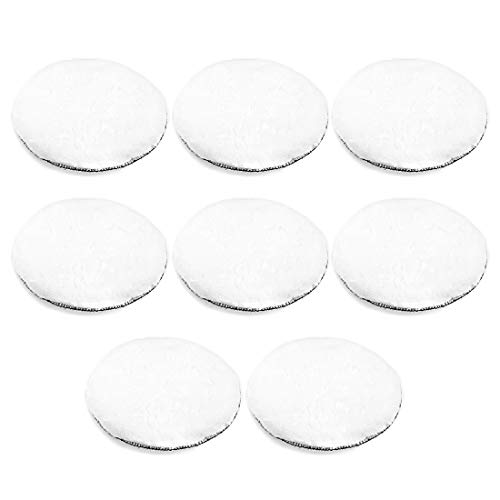 uxcell 7-Inch Wool Polishing Pad Hook and Loop Buffing Wheel for Polisher and Buffer 8 Pcs