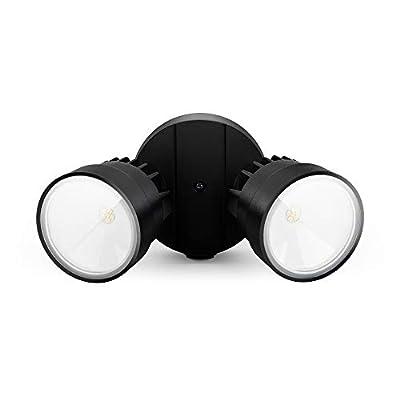 Lutec 1130 Lumen 15 Watt 28 LED Dual-Head Floodlight Outdoor, Waterproof Exterior Security Wall Light for Patio, Garden