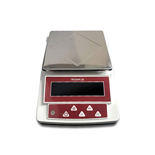 Fristaden Lab Digital Precision Balance Scale | 1000g Capacity and 0.01g Accuracy | Measures Grams, Ounces, Pounds and Carats | Count and Weigh Powders, Herbs, Jewelry, Precious Metals and ()