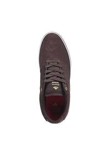 Emerica The Reynolds Low Vulc,Men's Skateboard Shoes,Brown/White/Gum,12 UK(47 EU)