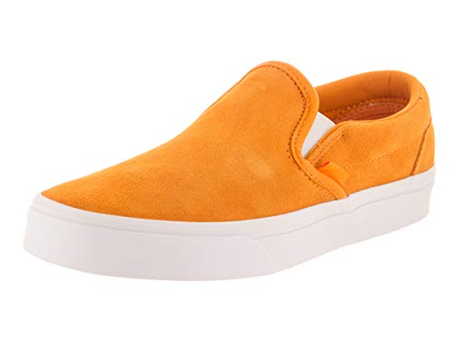 Vans Unisex Classic Slip-On (Soft Suede) Soft Suede/Zinnia/True Wht Skate Shoe 4.5 Men US / 6 Women US