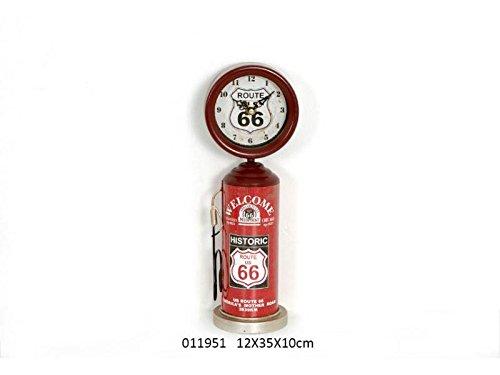 Clock VINTAGE DECO FUEL PUMP ROUTE 66 USA RED 11951