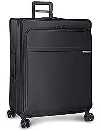 Baseline-Softside CX Expandable X-Large Checked Spinner Luggage, Black