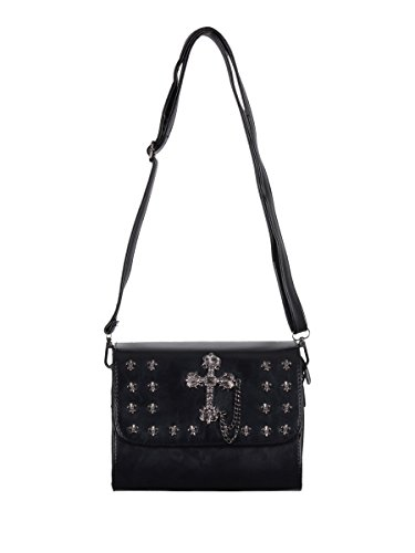 Cross Handbag Black Banned Banned Cross EtqwfqZ