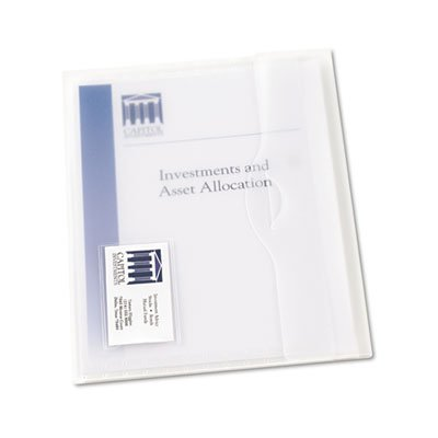 Avery Products - Avery - Translucent Document Wallets, Letter, Poly, Clear, 12/Box - Sold As 1 Box - Matte finish translucent polypropylene wallet has a die-cut closure-flap tucks into slit for security. - Business card holder on front. - Holds up to 50 sheets of paper.