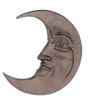 Iron Half Moon Face Wall Decor