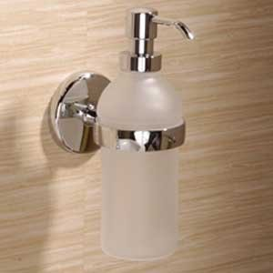 Ginger 0314-G Soap / Lotion Dispenser from the Hotelier Collection, Satin Nickel by Ginger