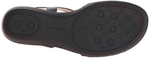 Naturalizer Red de Mujeres T-Strap sandalias Negro