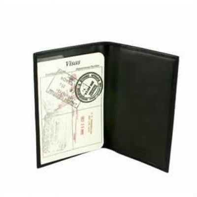 Bosca Men's Nappa Vitello Passport Case Black One Size