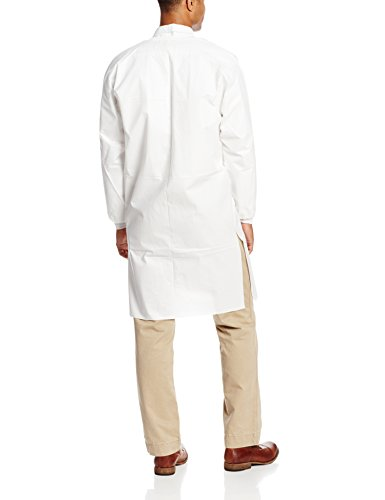 ValuMax 3960WHL LiquidGuard Microporous Breathable Film Disposable Lab Coats, 3 Pockets, Knee Length, White, L, Pack of 10 by Valumax (Image #2)