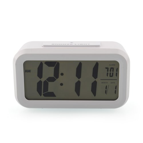 Amzdeal LCD Alarm Clock with Matching Backlight, Bags Central