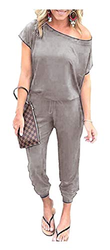 ANRABESS Women's Sexy Off Shoulder Elastic Waist Jumpsuit Rompers CX-Qianhui-L BYF-33 ()