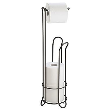InterDesign Classico Free Standing Toilet Paper Holder for Bathroom Storage - Bronze