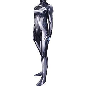 Black Zero Suit Samus Cosplay Costume By Aesthetic Cosplay Zero Suit Samus Costume Zero Suit Bodysuit Xl