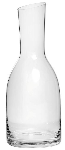 33.8 Ounce Clear Glass Verona Straight-Neck Carafe with Slanted Top