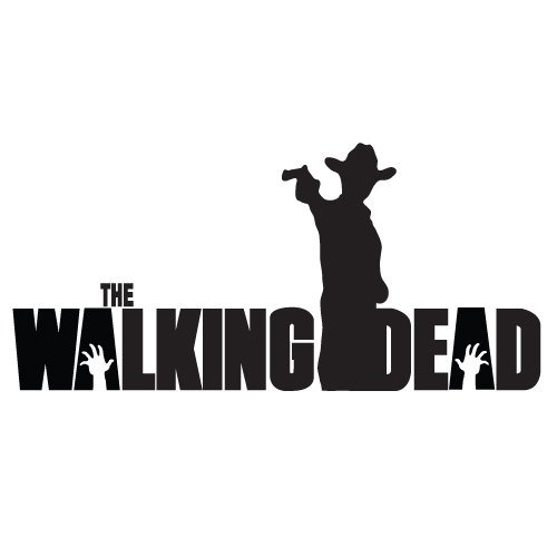 Rick Grimes Gun Hat The Walking Dead Logo Vinyl Sticker Decal For Car Windows Laptop (11