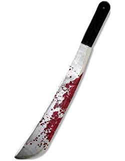 Amazon com: Psycho Killer Costume Accessory Bloody Toy Machete Knife