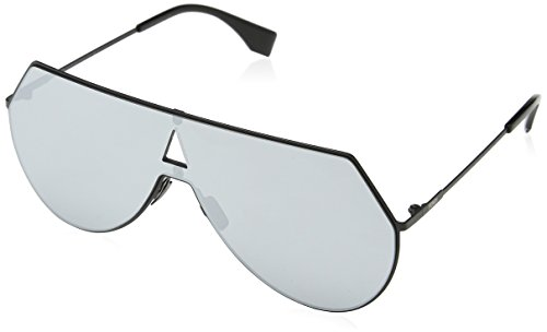 Fendi Women's Shield Aviator Sunglasses, Matte Black/Silver, One - Sunglasses Women S Shield