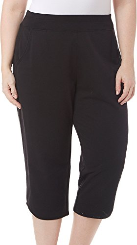 Plus French Terry Pants (Brisas Plus Pull On French Terry Capris 2X Black)