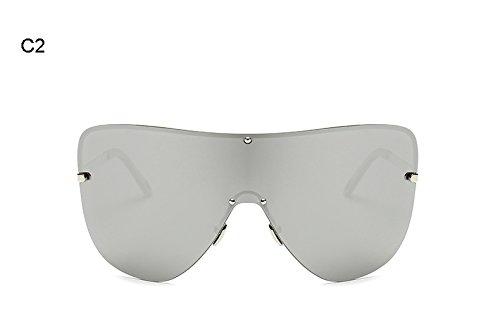 Lente polarizadas Design Frame Hombres B Eyewear Reborde Mujeres D Big integrada Sol Burenqi Gafas Mujer Marca Sin de pzvqw6nRHx