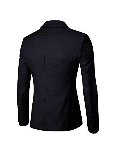 Casual Homme Bouton Elegant Noir Veste Slim Fit Manteau Costume Blazer Jacket Un tqO1TWFx