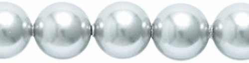 Light Gray Crystal (Swarovski 5810 Crystal Round Pearl Beads, 6mm, Light Gray, 50-Pack)