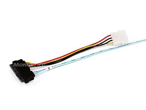 Monoprice 1m 28AWG Internal Mini SAS 36-Pin SFF-8087 Male to SAS 29-Pin Female and 4-Pin Power Cable, Black (108190) by Monoprice (Image #2)