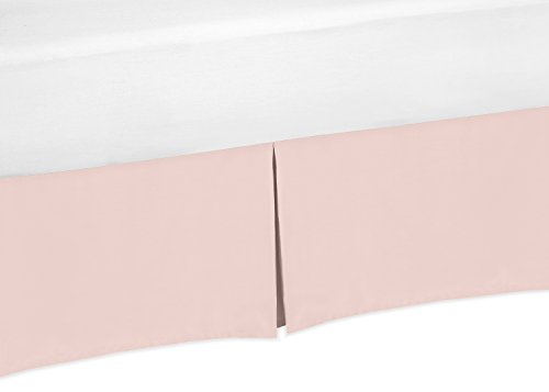 (Sweet Jojo Designs Blush Pink Baby Girl Pleated Crib Bed Skirt Dust Ruffle for Bedding Collections)