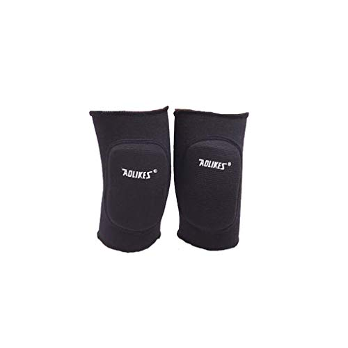 (Knee Wraps, 1 Pair Joint Support Knee Pads, Sponge Patella Strap, Fitness Compression Brace Athletic Sleeve Unisex, Skating Safety Pain Relief (35cm-60cm, Black))