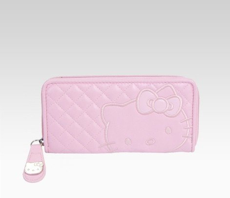 Hello Kitty Long Wallet: Pink Quilt, Bags Central