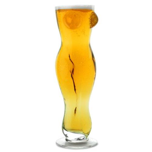 Out of the blue 78/7883 Trinkglas, Frauentorso I für 500 ml, circa 25 cm