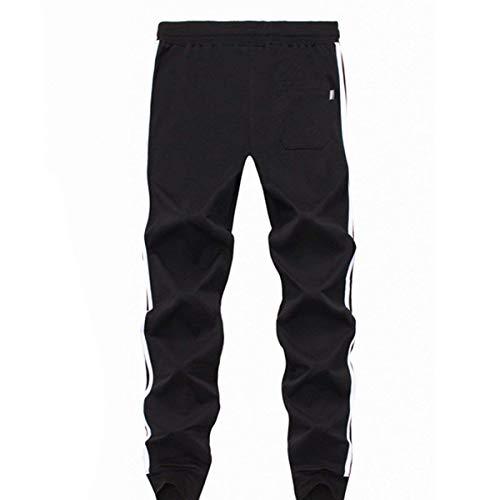 Pencil Hommes Le Rayures Coton Automne Pantalon Targogo Pure Confortable Vert Sport Fit Basic Loisirs Couleur Noir Droites gdSq61x