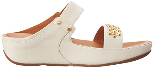 Sandalias de FitFlop–Vestido de Amsterdam Studded Slide Urban White