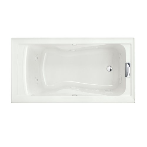 (American Standard 2425VC-RHO.020 Evolution 5-Feet by 32-Inch Right-Hand Outlet Whirlpool Bath Tub with EverClean, Hydro Massage System I and Integral Apron, White)