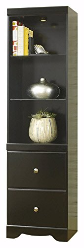 nature Design - Shay Pier Cabinet - 2 Drawers and 3 Shelves - Contemporary Living - Black ()