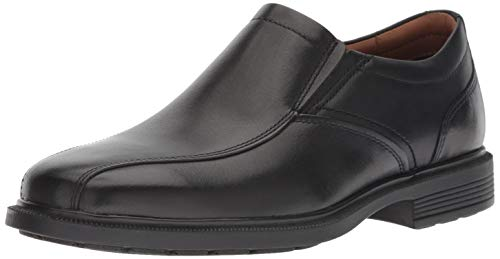 Rockport Men's Dressports Luxe Bike Toe Slip On Oxford, Black, 10 W US