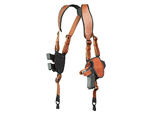 Alien Gear holsters ShapeShift Shoulder Holster (Brown Leather) Glock 19 (Right Handed) (9mm/.40 Cal Double Stack)